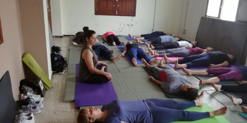 Yoga in El Palmar, teach by yoga retreat La Tejana