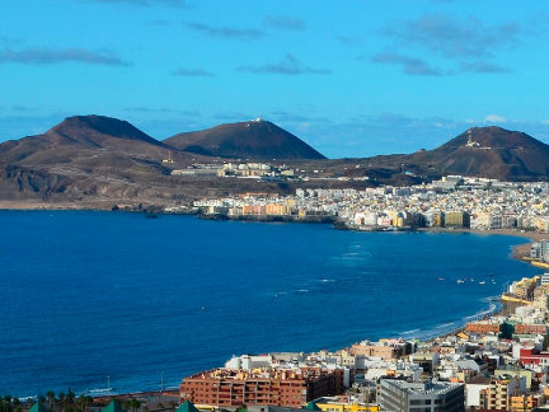 Las Canteras beach in Canary Islands, Spain