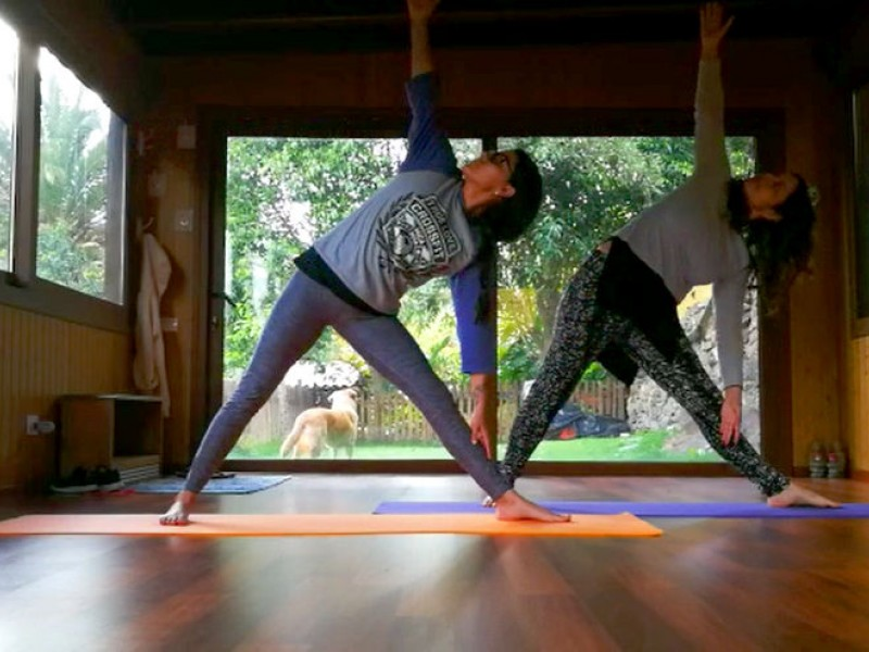 Yoga dance workshop in the yoga retreat La Tejana